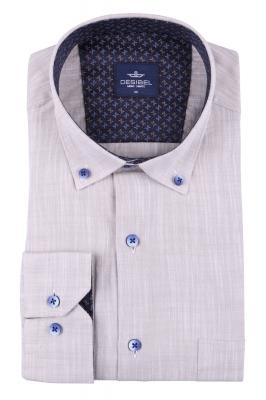 Мужская однотонная классическая рубашка, длинный рукав  (Арт. T 3458)