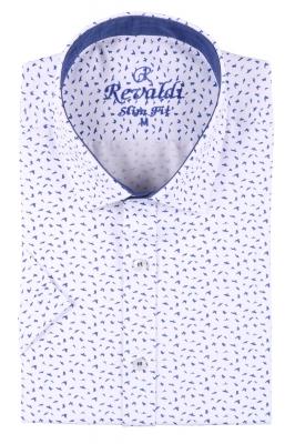 Стильная мужская рубашка в рисунок, длинный рукав  (Арт. T 3464)