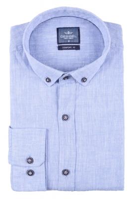 Стильная мужская однотонная рубашка, длинный рукав  (Арт. T 3467)