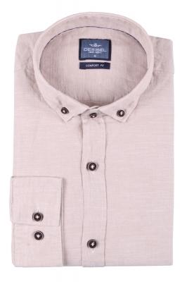 Стильная мужская однотонная рубашка, длинный рукав  (Арт. T 3468)