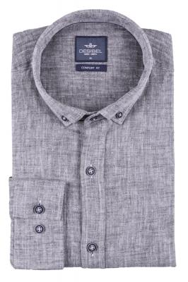 Стильная мужская однотонная рубашка, длинный рукав  (Арт. T 3470)