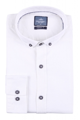 Стильная мужская однотонная рубашка, длинный рукав  (Арт. T 3473)