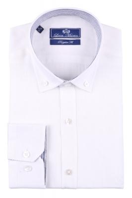 Стильная мужская однотонная рубашка, длинный рукав  (Арт. T 3478)
