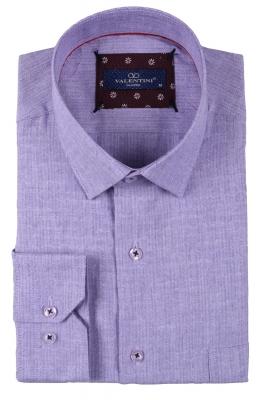 Классическая мужская однотонная рубашка, длинный рукав  (Арт. T 3488)