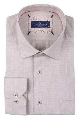 Классическая мужская однотонная рубашка, длинный рукав  (Арт. T 3489)