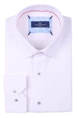 Классическая мужская однотонная рубашка, длинный рукав  (Арт. T 3491)