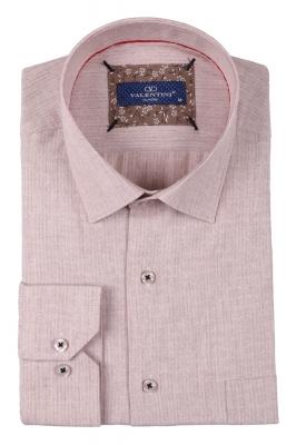 Классическая мужская однотонная рубашка, длинный рукав  (Арт. T 3492)