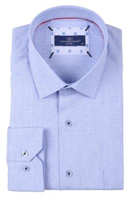 Классическая мужская однотонная рубашка, длинный рукав  (Арт. T 3493)