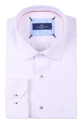 Классическая мужская однотонная рубашка, длинный рукав  (Арт. T 3494)