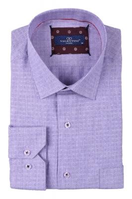 Классическая мужская однотонная рубашка, длинный рукав  (Арт. T 3495)