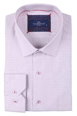 Классическая мужская однотонная рубашка, длинный рукав  (Арт. T 3496)