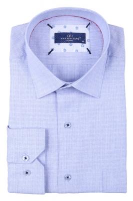Классическая мужская однотонная рубашка, длинный рукав  (Арт. T 3497)