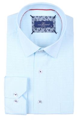 Классическая мужская однотонная рубашка, длинный рукав  (Арт. T 3498)