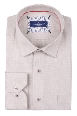 Классическая мужская однотонная рубашка, длинный рукав  (Арт. T 3499)