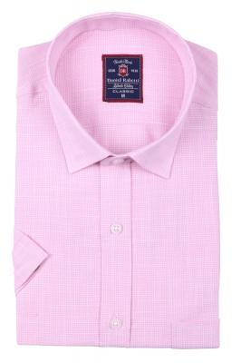 Классическая мужская рубашка в мелкую клетку, короткий рукав  (Арт. T 3502K)