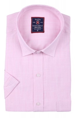 Классическая мужская рубашка, короткий рукав  (Арт. T 3504)