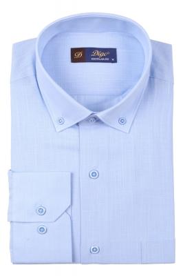 Классическая однотонная мужская рубашка, длинный рукав  (Арт. T 3515 )