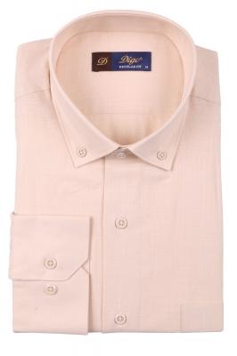 Классическая однотонная мужская рубашка, длинный рукав  (Арт. T 3512)