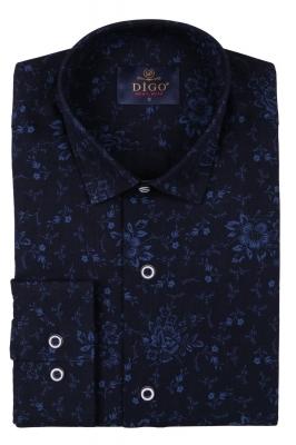 Стильная мужская рубашка в рисунок, длинный рукав  (Арт. T 3523)