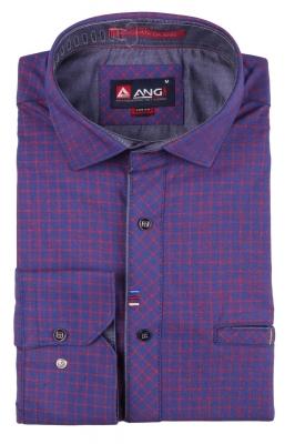 Cтильная мужская рубашка, длинный рукав  (Арт. T 3551)