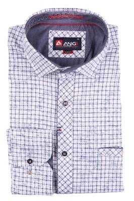 Cтильная мужская рубашка, длинный рукав  (Арт. T 3552)