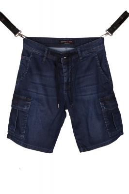Мужские джинсовые шорты с накладными карманами (Арт. SH 3593)