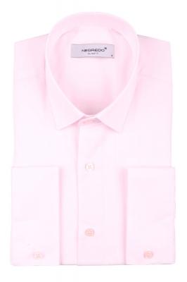 Cтильная мужская однотонная рубашка, длинный рукав  (Арт. T 3629)