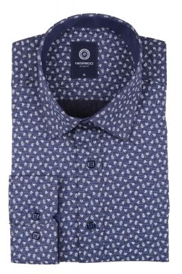 Cтильная мужская рубашка в рисунок, длинный рукав  (Арт. T 3641)