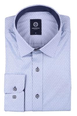 Cтильная мужская рубашка в рисунок, длинный рукав  (Арт. T 3642)