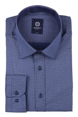 Cтильная мужская рубашка в рисунок, длинный рукав  (Арт. T 3646)