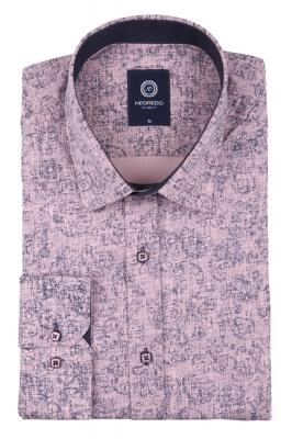 Cтильная мужская рубашка в рисунок, длинный рукав  (Арт. T 3649)