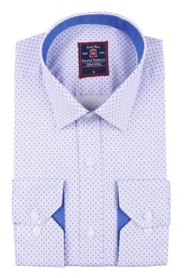 Cтильная мужская рубашка в рисунок, длинный рукав  (Арт. T 3654)