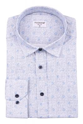 Cтильная мужская рубашка в рисунок, длинный рукав  (Арт. T 3658)