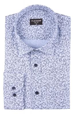 Cтильная мужская рубашка в рисунок, длинный рукав  (Арт. T 3663)