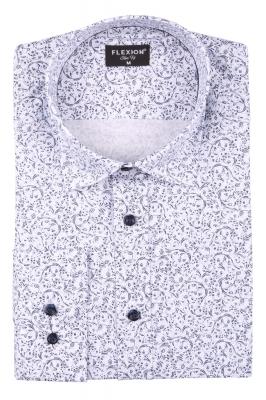 Cтильная мужская рубашка в рисунок, длинный рукав  (Арт. T 3664)