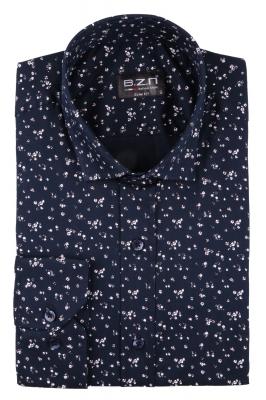 Cтильная мужская рубашка в рисунок, длинный рукав  (Арт. T 3685)