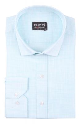 Cтильная мужская однотонная рубашка, длинный рукав  (Арт. T 3688)
