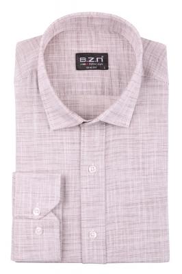 Cтильная мужская однотонная рубашка, длинный рукав  (Арт. T 3689)
