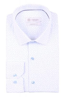 Cтильная мужская рубашка в рисунок, длинный рукав  (Арт. T 3697)