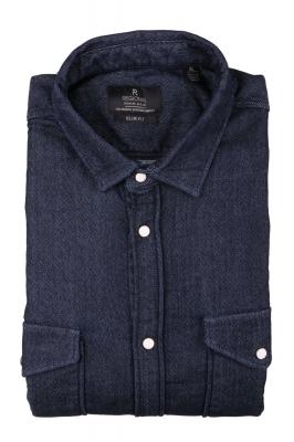 Джинсовая мужская рубашка, длинный рукав  (Арт. T 3836)