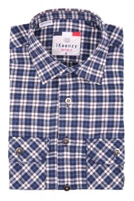 Хлопковая рубашка в клетку для мальчика , длинный рукав  (Арт. B SKY 2651)
