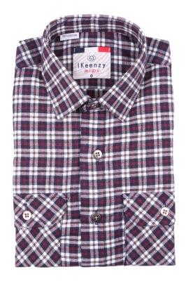 Хлопковая рубашка в клетку для мальчика , длинный рукав  (Арт. B SKY 2652)
