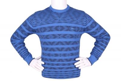 Стильный мужской свитер в полоску (Арт. POS 3897)