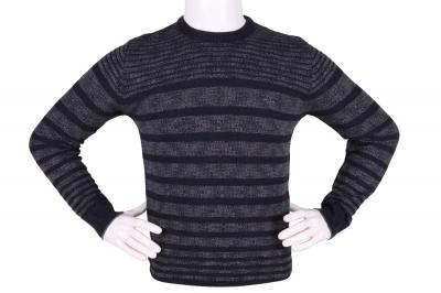 Стильный мужской свитер в полоску (Арт. POS 3901)