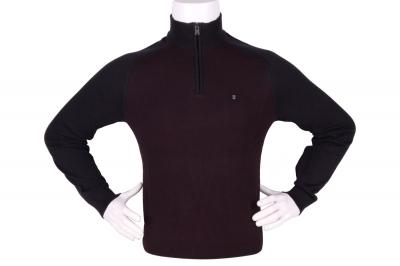 Стильный мужской свитер с воротником на молнии (Арт. POS 3939)