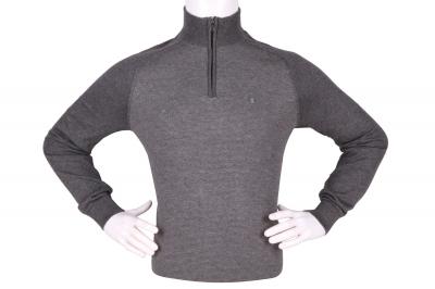 Стильный мужской свитер с воротником на молнии (Арт. POS 3940)