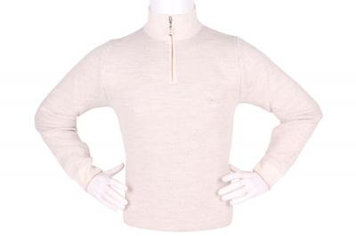 Стильный мужской свитер с воротником на молнии (Арт. POS 3942)