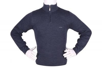 Стильный мужской свитер с воротником на молнии (Арт. POS 3943)