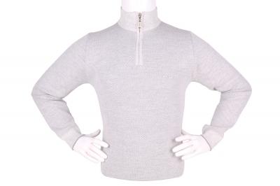 Стильный мужской свитер с воротником на молнии (Арт. POS 3944)