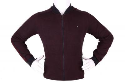 Стильный мужской свитер с застежкой на молнии (Арт. POS 3946)